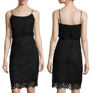 Nanette Lepore Strappy Lace Peplum Sheath Dress